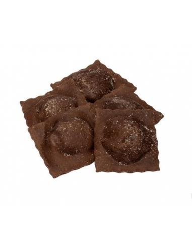 Ravioli Dolci con Ricotta e sfoglia al cacao