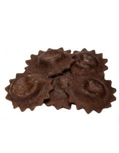 Mini Seadas con sfoglia di cioccolato e scorza d'arancia