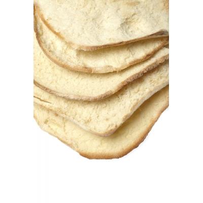 Baskets with Bistoccu bread and Caciotta